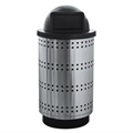 Paramount 55 Gallon Dome Top Stainless Steel Waste Receptacle