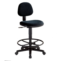 CH277-40DH : Alvin Comfort Classic Drafting Chair, Color: Black