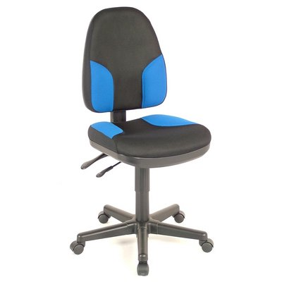 CH555-85 : Alvin Monarch High Back Chair, Color: Black with Blue Highlights