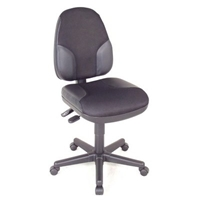 CH555-95 : Alvin Monarch High Back Chair, Color: Black with Leather Highlights