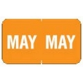 """MAY"" Month Labels (Orange) - 240/Pack"