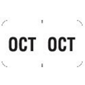 """OCT"" Month Labels (White) - 240/Pack"