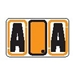 "Alpha ""A"" Labels Orange - Pack of 240 - J7710"