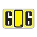 "Alpha ""G"" Labels Yellow - Pack of 240 - J7716"