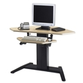 "E-Series 42"" x 24"" Corner Dual Surface Adjustable Height Workstation"