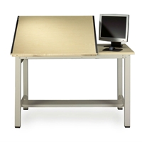 "7772 : Mayline 30"" x 60"" Ranger Split Top Drafting Table, No Drawers"