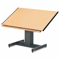 "8693B : Mayline 30"" x 42"" Futur-Matic Drafting Table, Electric Height / Manual Tilt"