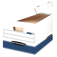 Systematic Storage Boxes - LETTER/LEGAL, White-Blue, Carton of 12