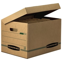 Recycled Stor-File Storage Basic Duty Boxes - LETTER/LEGAL, Carton of 12