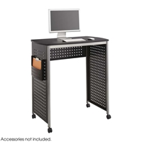 Scoot Stand-up Workstation Computer desk; Computer desks; Computer table; Standing desk; Desk; Scoot; Black computer desk; Black computer desks; Black computer table; Black standing desk; Black desk; Black Scoot