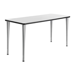 "60"" x 24"" Rumba Post Leg Table with Glides"