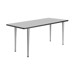 "72"" x 24"" Rumba Post Leg Table with Glides"