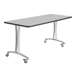 "60"" x 24"" Rumba T-Leg Table with Casters"