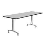 "60"" x 24"" Rumba T-Leg Table with Glides"