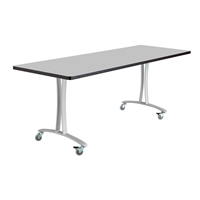 "72"" x 24"" Rumba T-Leg  Table with Casters"
