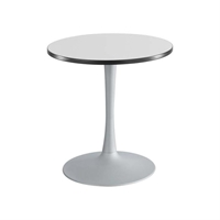 "Cha-Cha 30"" Round Table with Trumpet Base Collaboration table; Conference table; Meeting table; Sitting height table; Round table; Short table; Table and base; Table with base; Break room table; Gathering table"