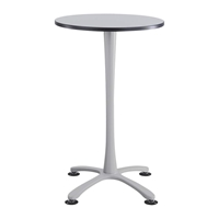 "Cha-Cha 30"" Bistro-Height Round Table with X-Base Collaboration table; Conference table; Meeting table; Bistro height table; Round table; Tall table; Table and base; Table with base; Break room table; Gathering table; Standing table; Stand up table; Standup table"