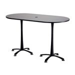 "72"" x 36"" Cha-Cha Standing-Height Teaming Table Collaboration table; Conference table; Meeting table; Bistro height table; Round table; Tall table; Table and base; Table with base; Break room table; Gathering table; Standing table; Stand up table; Standup table"