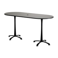 "84"" x 36"" Cha-Cha Bistro-Height Teaming Table"