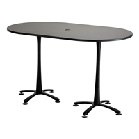 "72"" x 42""Cha-Cha Bistro-Height Teaming Table"