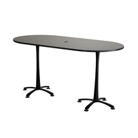 "84"" x 42"" Cha-Cha Bistro-Height Teaming Table"