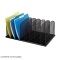 Onyx Mesh Desk Organizer 8 Upright Sections