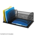 Onyx Mesh Desk Organizer 3 Horizontal - 3 Upright