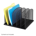 Onyx Mesh Desk Organizer 5 Upright Sections