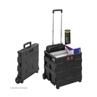 Stow Away Crate Dolly; Folding hand truck; Folding hand cart; Hand cart; Hand truck; Mobile cart; Facility maintenance; Rolling dolly