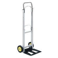 Hide-Away Hand Truck Dolly; Folding hand truck; Folding hand cart; Hand cart; Hand truck; Mobile cart; Facility maintenance; Rolling dolly