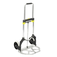 Stow Away Hand Truck Dolly; Folding hand truck; Folding hand cart; Hand cart; Hand truck; Mobile cart; Facility maintenance; Rolling dolly