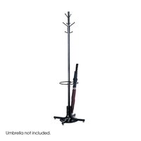 Costumer with Umbrella Stand Coat rack with umbrella stand; Coat hook with umbrella stand; Coat hook; Coat hooks; Coat rack; Office furniture; Costumer; Black coat hook; Black coat hooks; Black coat rack; Black office furniture; Black costumer; Office accessories; Umbrella stand