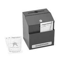 Steel Suggestion Box Suggestion box; Collection box; Key drop box; Office accessories; Drop box; Black suggestion box