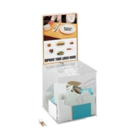 Large Acrylic Collection Box Suggestion box; Collection box; Key drop box; Office accessories; Drop box; Clear suggestion box; Clear collection box; Clear key drop box; Clear office accessories