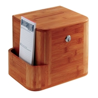Bamboo Suggestion Box Suggestion box; Collection box; Key drop box; Office accessories; Drop box; Bamboo collection box; Bamboo drop box; Cherry collection box; Cherry key drop box; Cherry office accessories