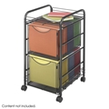 Onyx Mesh File Cart with 2 File Drawers