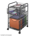 Onyx Mesh File Cart with 1 File Drawer and 2 Small Drawers