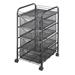 5214BL : Safco Onyx Mesh File Cart with 4 Drawers
