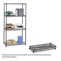 "36"" x 18"" (2) Extra Shelves for Commercial Wire Shelving Steel shelving; Storage shelving; Extra strength steel shelving; Garage storage; Commerical wire shelving; Wire shelving; Wire storage shelving; Backroom storage; Backroom shelving; Facility maintenance; Heavy duty steel shelving; Black steel shelving; Black storage shelving; Black extra strength steel shelving"