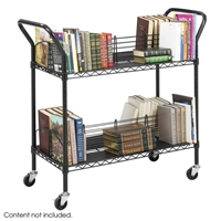 5333BL : Safco Wire Book Cart