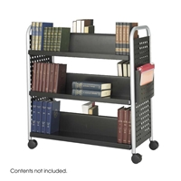 5335BL : Safco Double Sided 6-Shelf Book Cart