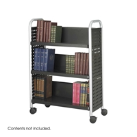 5336BL : Safco Single Sided 3-Shelf Book Cart