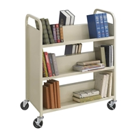5357SA : Safco Steel 6-Shelf Shelf Double-Sided Book Cart