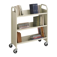 5358SA : Safco Steel 3-Shelf Single-Sided Book Cart