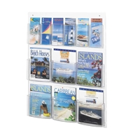 5668CL : Safco Clear2c 6 Pamphlet 6 Magazine Display