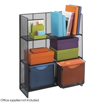6240BL : Safco Onyx Mesh Fold-Up Shelving