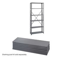 "Industrial Steel Shelf Pack 6-Shelves 36"" x 12"" Industrial shelving; Industrial storage shelving; Industrial backroom shelving; Industrail back room shelving; Steel shelving; Storage shelving; Extra strength steel shelving; Garage storage; Backroom storage; Backroom shelving; Backroom organziation; Back room storage; Back room shelving; Back room organziation; Facility maintenance; Heavy duty steel shelving"