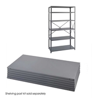 "Industrial Steel Shelf Pack 6-Shelves 36"" x 24"" Industrial shelving; Industrial storage shelving; Industrial backroom shelving; Industrail back room shelving; Steel shelving; Storage shelving; Extra strength steel shelving; Garage storage; Backroom storage; Backroom shelving; Backroom organziation; Back room storage; Back room shelving; Back room organziation; Facility maintenance; Heavy duty steel shelving"