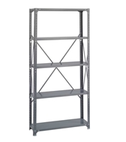 Commercial Steel Shelving 36 x 12, 5 Shelf Kit   Industrial shelving; Industrial storage shelving; Industrial backroom shelving; Industrail back room shelving; Steel shelving; Storage shelving; Extra strength steel shelving; Garage storage; Backroom storage; Backroom shelving; Backroom organziation; Back room storage; Back room shelving; Back room organziation; Facility maintenance; Heavy duty steel shelving