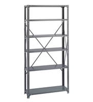 Commercial Steel Shelving 36 x 12, 6 Shelf Kit   Industrial wire shelving; Industrial wire storage shelving; Industrial backroom shelving; Industrail back room shelving; Steel shelving; Storage shelving; Extra strength steel shelving; Garage storage; Backroom storage; Backroom shelving; Backroom organziation; Back room storage; Back room shelving; Back room organziation; Facility maintenance; Heavy duty steel shelving